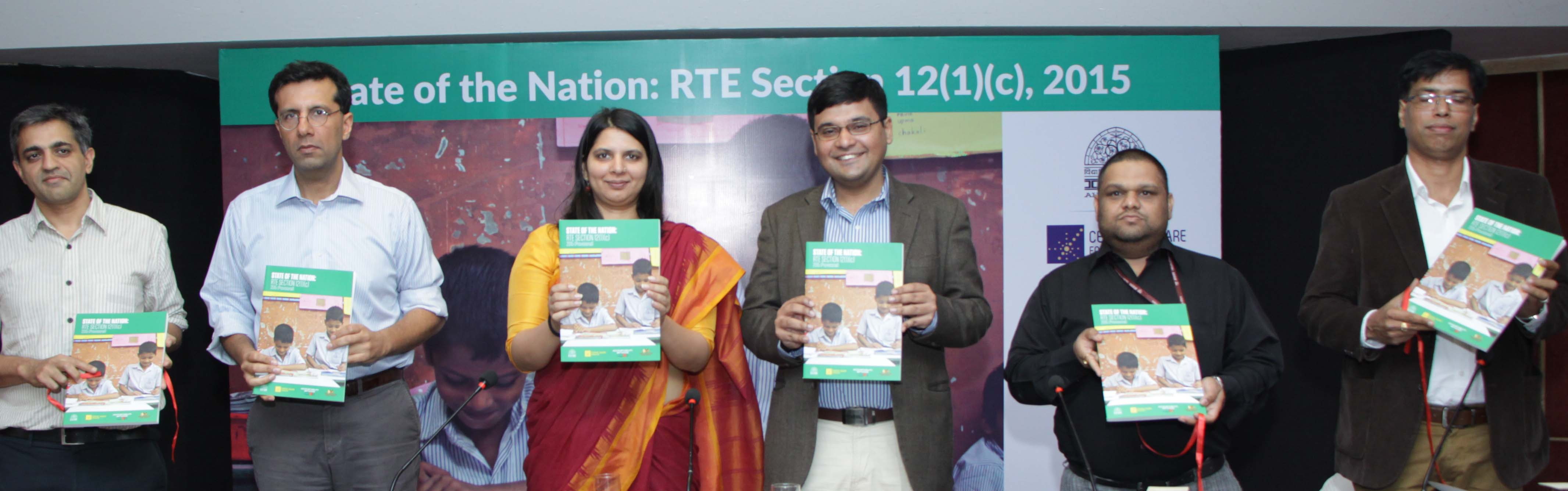 Launch of State of the Nation-RTE Section 12(1)(c) report at the Annual Summit 2016 by report partners and speakers